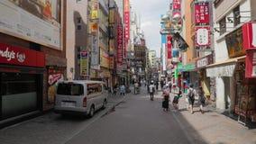 Straße in Tokyo, Japan stock footage