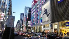 Straße Tokyos Ginza Stockfoto