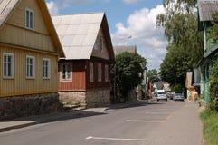 Straße in Trakai Stockfotografie