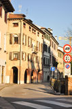 Straße in Treviso Stockfotografie