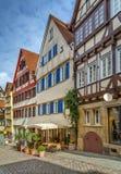 Straße in Tubingen, Deutschland lizenzfreie stockbilder