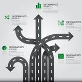Straße u. Zeichen Infographics-Design-Schablone Lizenzfreies Stockfoto