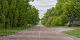 Straße in und aus Tschornobyl Stockfotografie