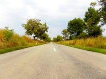 Straße und Bäume Stockfotos