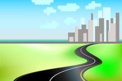 Straße und die Stadt mit textspace lizenzfreie abbildung