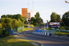Straße und Gebäude Lizenzfreies Stockbild