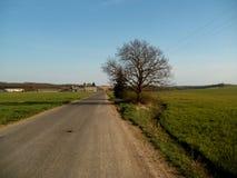 Straße und Landschaft Lizenzfreies Stockbild