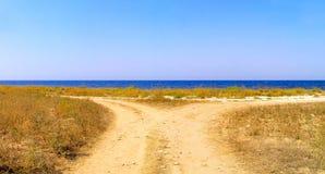 Straße und Meer Stockfoto