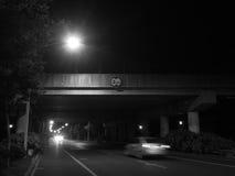Straße und Nacht Lizenzfreie Stockbilder