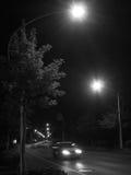 Straße und Nacht Lizenzfreies Stockfoto
