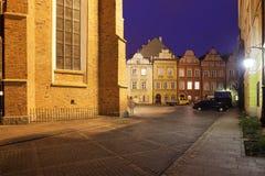 Straße und Quadrat Kanonia in der alten Stadt von Warschau Lizenzfreies Stockfoto