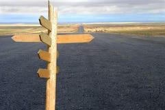 Straße und Richtung Stockbild
