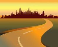 Straße und Stadt lizenzfreie abbildung