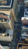 Straße unten unten, Manhattan, New York Lizenzfreies Stockfoto