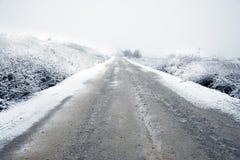 Straße unter Blizzard Lizenzfreie Stockbilder