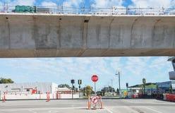 Straße unter Rekonstruktion Stockfotografie