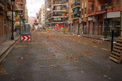 Straße Valencia - Fallas Lizenzfreie Stockfotografie