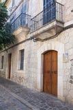 Straße in Valldemossa-Dorf in Mallorca Stockfotos