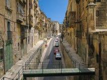 Straße in Valletta, Malta Lizenzfreies Stockbild