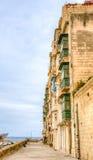 Straße in Valletta Malta Stockbild