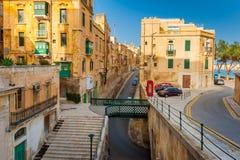 Straße in Valletta Malta Lizenzfreies Stockbild