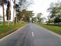 Straße veiw Landstraßenbild Stockfoto