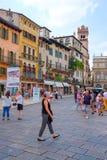 Straße in Verona Stockbilder