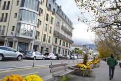 Straße in Vevey, die Schweiz Stockbild