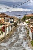 Straße in Villa de Leyva lizenzfreies stockfoto