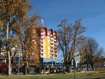Straße in Virovitica-Stadt Lizenzfreie Stockbilder
