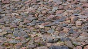 Straße vom Naturstein Stockfoto