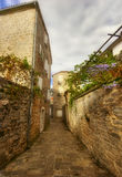 Straße von altem Budva Lizenzfreie Stockfotografie