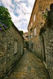 Straße von altem Budva Stockbilder