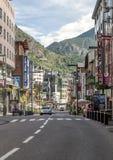 Straße von Andorra Stockbild