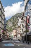 Straße von Andorra Lizenzfreie Stockfotos