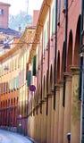 Straße von Bologna lizenzfreie stockfotografie