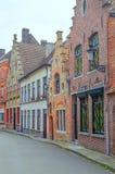 Straße von Brügge Stockfotografie
