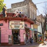 Straße von Caminito im Bezirk Boca von Buenos Aires Stockfotos