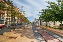 Straße von Castellon stockfotografie