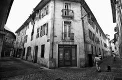 Straße von Chambery, Frankreich Lizenzfreie Stockfotos