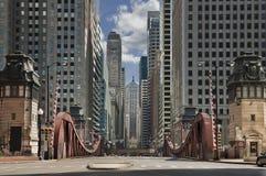 Straße von Chicago. Lizenzfreies Stockbild