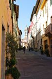 Straße von d'Orcia Sans Quirico lizenzfreies stockfoto
