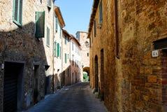 Straße von d'Orcia Sans Quirico stockbild