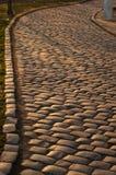 Straße von den Pflastersteinen Lizenzfreies Stockfoto
