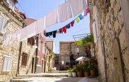 Straße von Dubrovnik in Dalmatien, Kroatien Stockfotografie