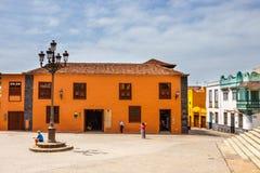 Straße von Garachico-Stadt auf Teneriffa-Insel, Kanarienvogel, Spanien Stockbild