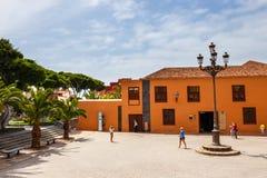 Straße von Garachico-Stadt auf Teneriffa-Insel, Kanarienvogel, Spanien Lizenzfreie Stockfotos