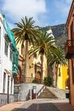Straße von Garachico-Stadt auf Teneriffa-Insel, Kanarienvogel, Spanien Lizenzfreies Stockbild