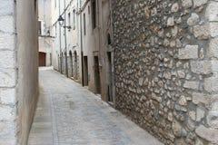 Straße von Girona Spanien Stockfotografie