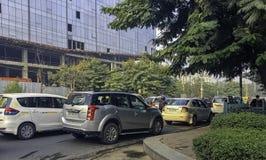 Straße von Gurgaon/von Gurugram, Neu-Delhi lizenzfreies stockbild